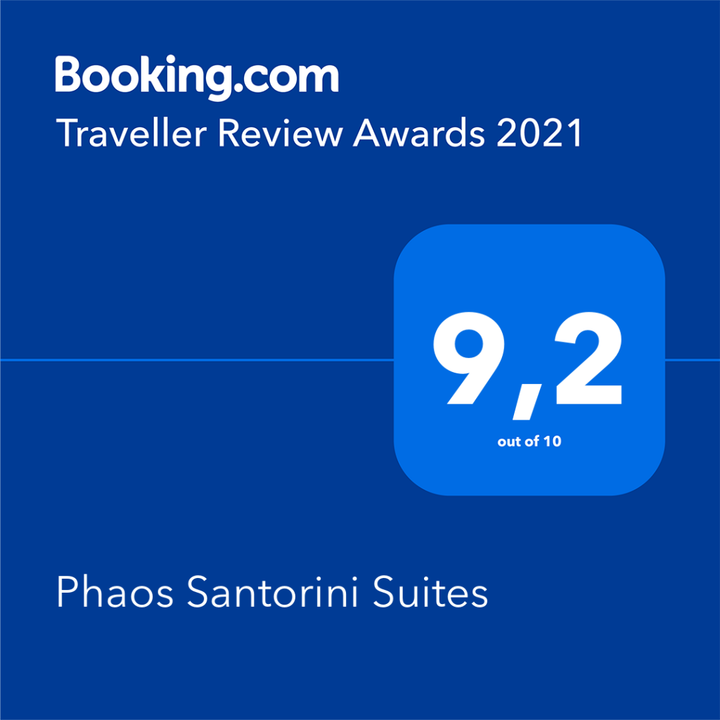 Phaos Santorini Suites - Booking Award 2021